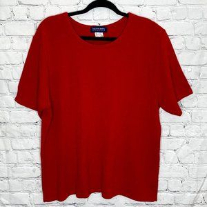 Vintage red thick knit tee